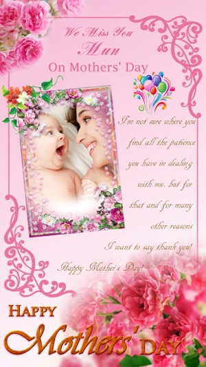 Mothers day photo frames stickers greeting cards maker hd on screenshots m4hsunfo