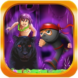 Jungle Kid Adventure Run 2 - Ninja And Panther