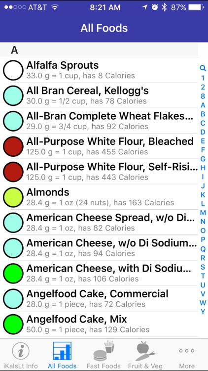 iKals Lite - iNutrient: Calories screenshot-2