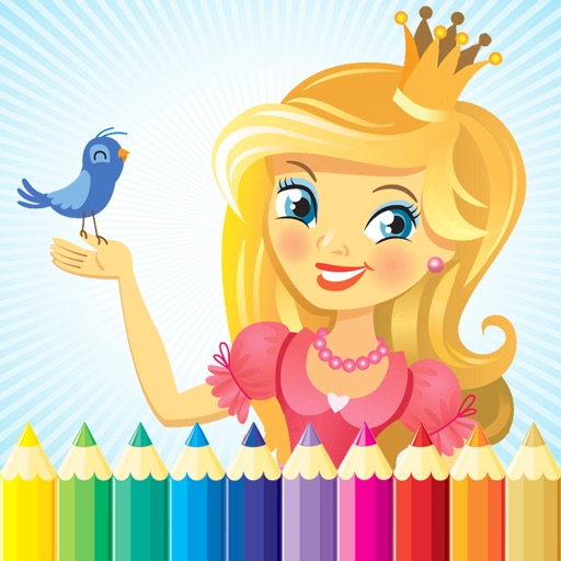 Princess & Fairy Coloring Book - All In 1 Drawing, Paint And Color Games HD For Good Kid iOS App
