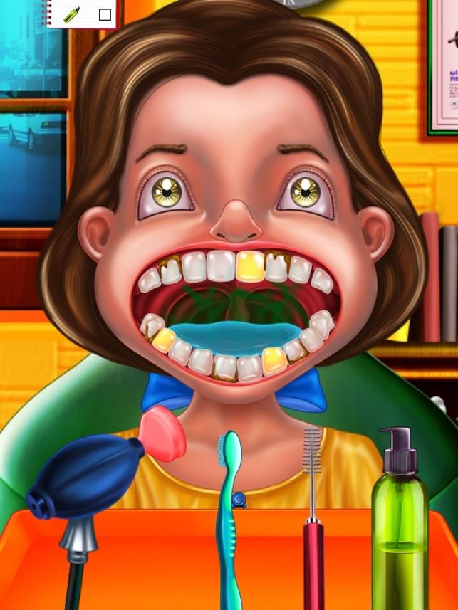 çılgın Diş Hekimi çocuklar Için Eğlenceli Bir Oyun çılgın Bir Diş