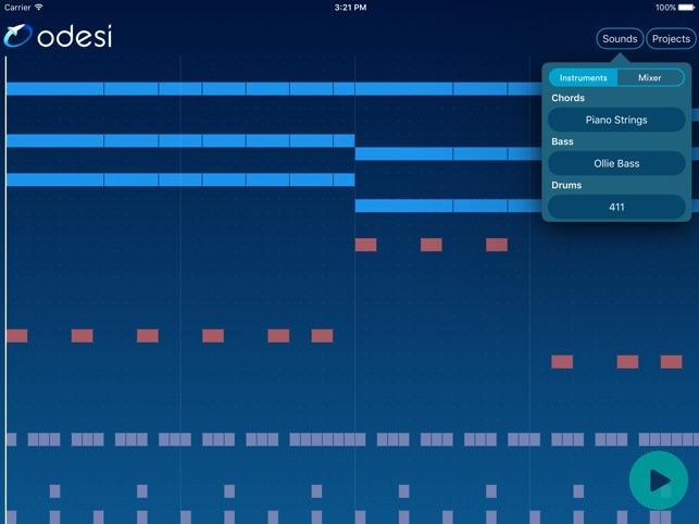 Odesi Chords - Create Rhythms, Basslines, Chord Progressions on the