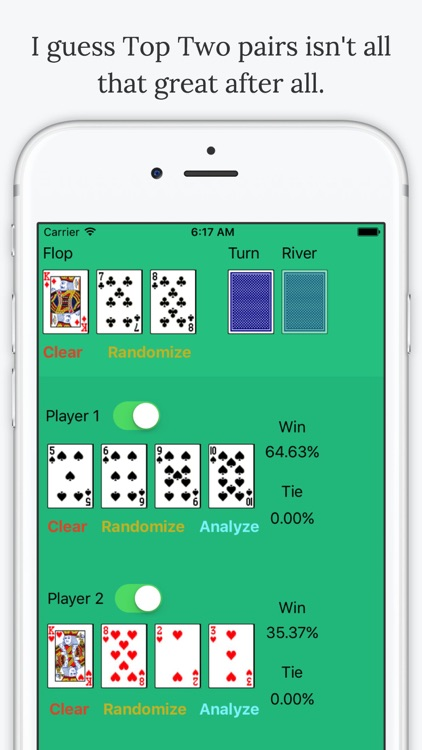 Omaha Poker Calculator - Calculate Odds and Chances % to Win screenshot-3