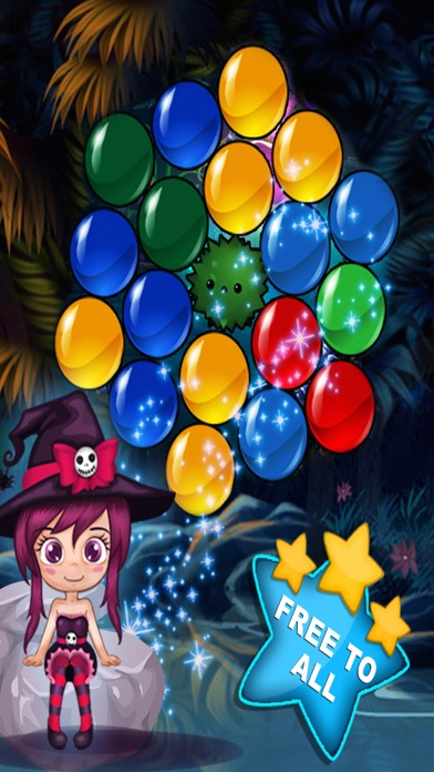 Angel Bubble Shooter Mania. Candy Smash game for kids screenshot three