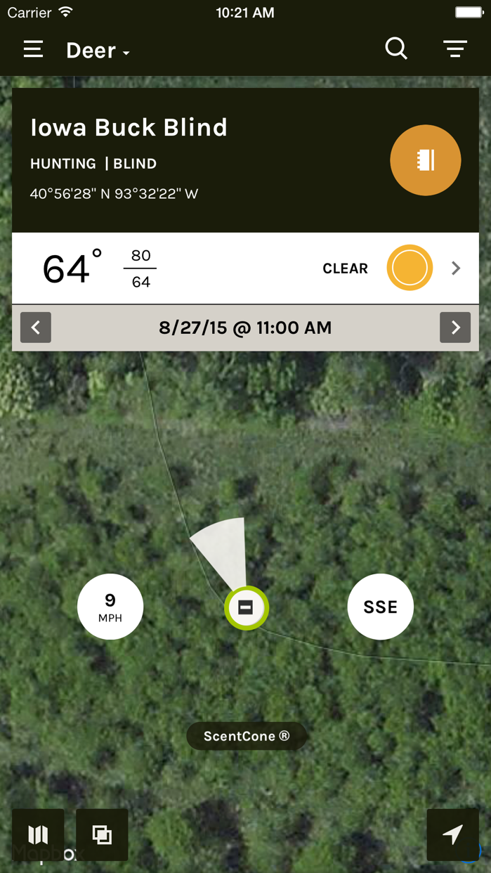 ScoutLook Hunting: Weather Screenshot