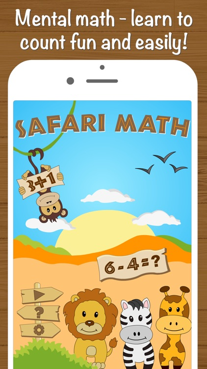 Safari Math Free - Addition and Subtraction game for kids screenshot-0