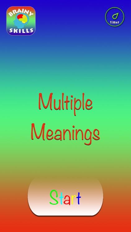 Brainy Skills Multiple Meanings