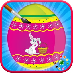 Color Therapy Easter day coloring book fingerpaint magic