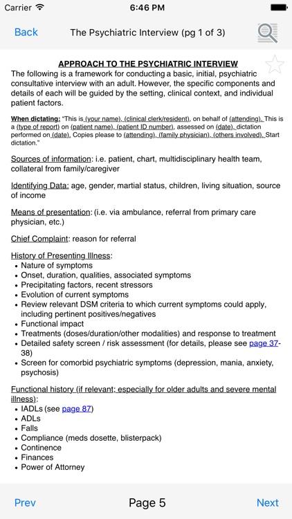 McMaster Psychiatry Handbook screenshot-3