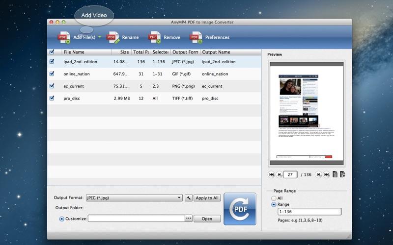 AnyMP4 PDF到图片转换器