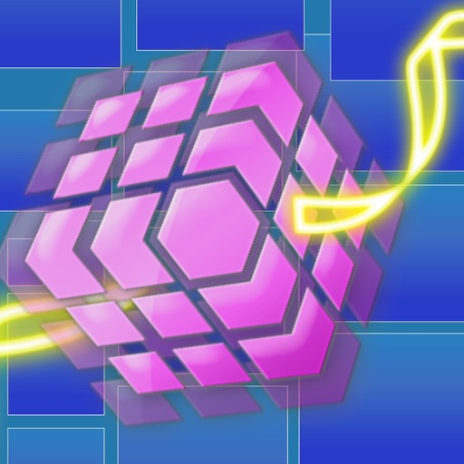 A Neon Bouncy Cube
