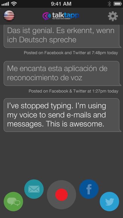 TalkTapp ~ Voice Text Dictation