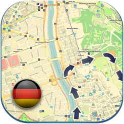 Germany offline road map, guide (free edition with Berlin, Hamburg ...