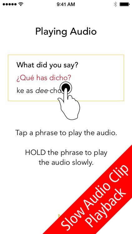 SpeakEasy Spanish Lite ~ Free Travel Phrases with Voice and Phonetics screenshot-3