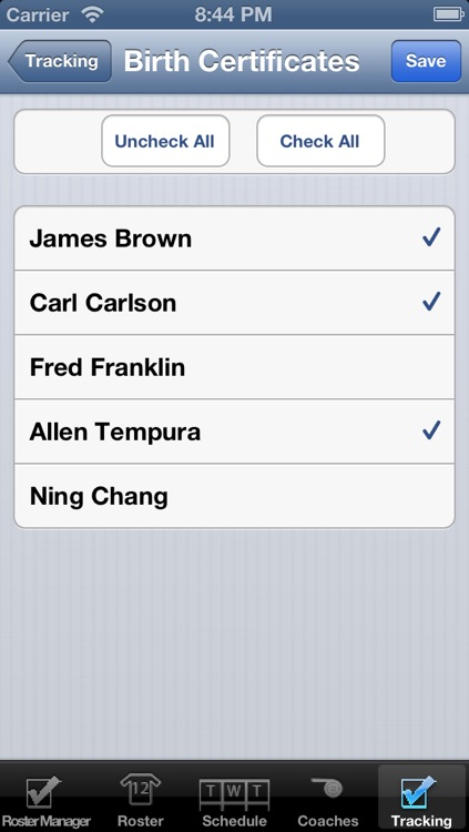 CheckMark Roster Manager screenshot-4