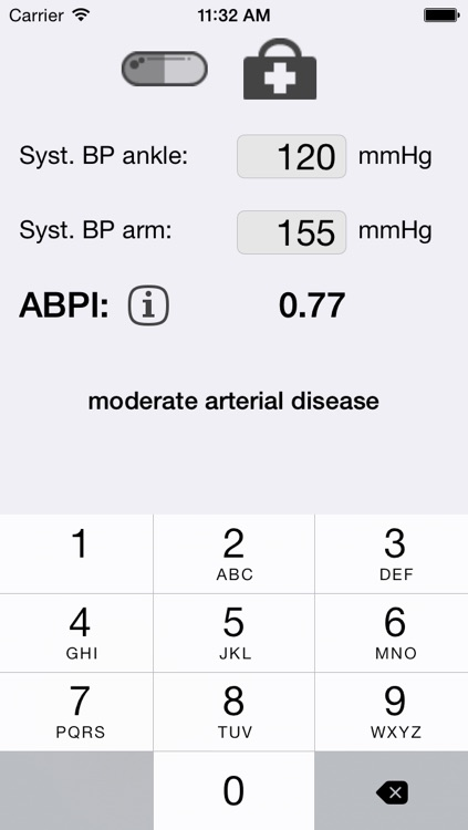 Ankle brachial pressure index