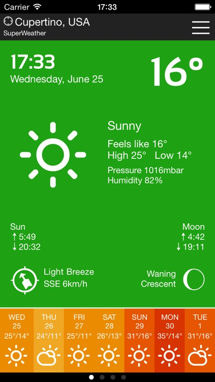 SuperWeather App Free screenshot-0