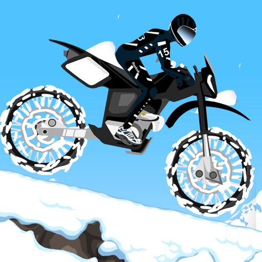 Snowy Motor Bike Race