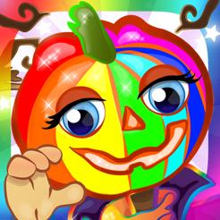Ausmalbilder Halloween Malvorlagen Spiele Für Kinder Hexe Kürbis