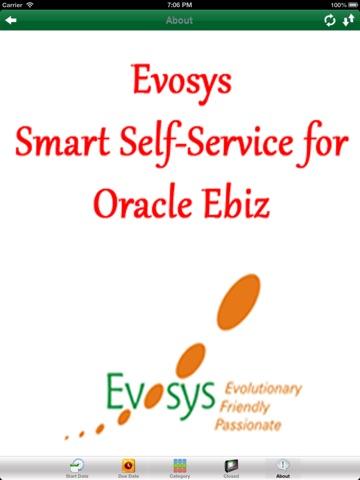 Screenshot of EVOSYS - Smart Self-Service For Oracle Ebiz