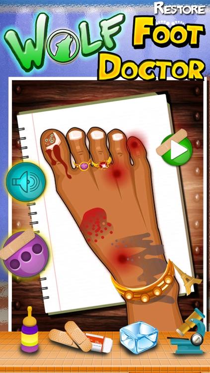 Wolf Foot Doctor - fun virtual pet and kids leg salon and kids spa
