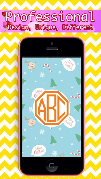 Monogram - Lock Screen & Home Screen Background Wallpaper screenshot-2