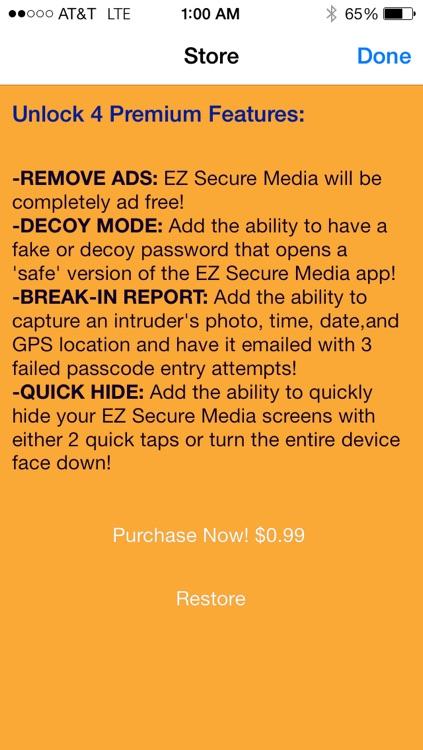 EZ Secure Media:The Ultimate Secret Video & Photo Organizer screenshot-3