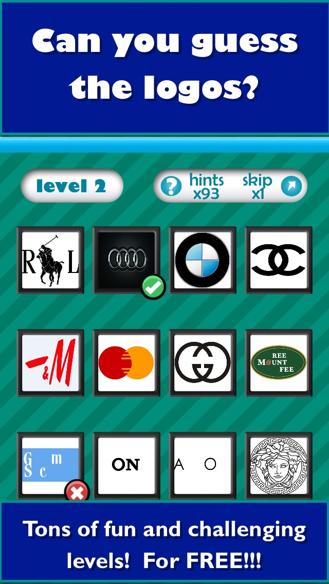 QuizCraze Logo Mania - a color quiz game to guess what's that pop food & brand icon! Screenshot