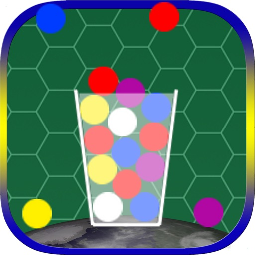 100 Color Marble - A Simple But The Best & Easy Hit And Tap Quick To Drop Action Ball In The Glass Cup Game