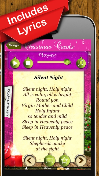 Christmas Carols - The Most Beautiful Christmas Songs to Hear & Sing screenshot-3
