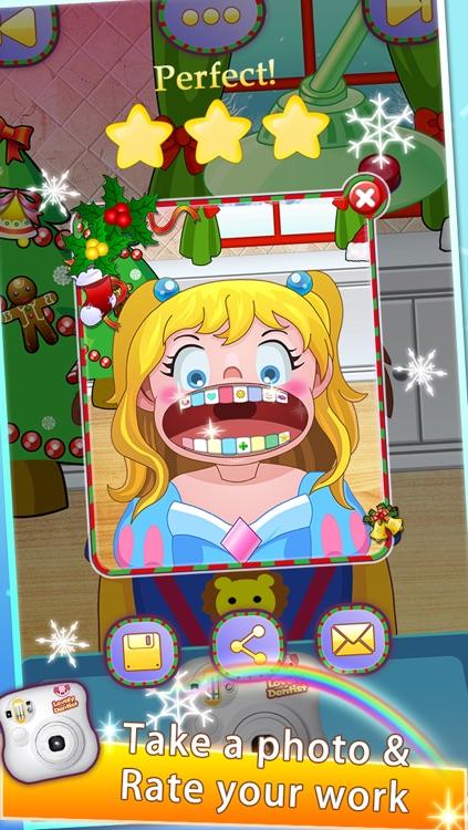 Lovely Dentist for Christmas - Kids Doctor screenshot-3
