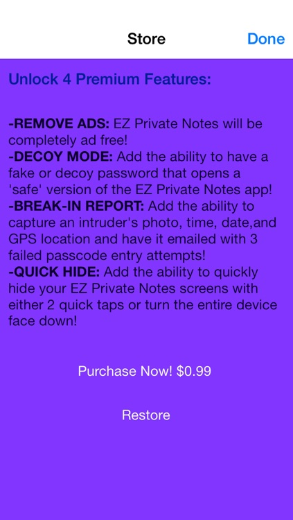EZ Private Notes: Protect & Keep Your Personal Notes Safe Free Version screenshot-3