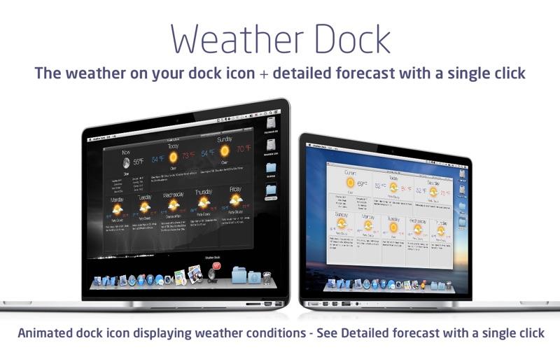 Screenshot #2 for Weather Dock+ Desktop forecast