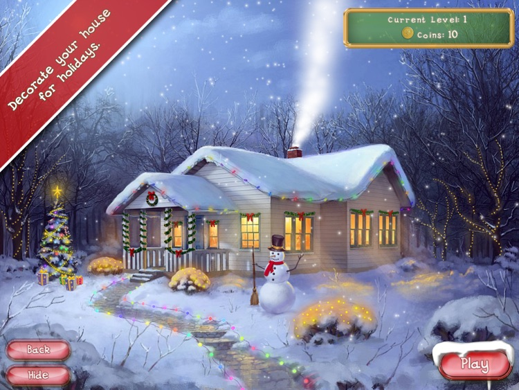 Christmas Mansion HD Free - Prepare your house for holiday in a free matching game screenshot-4