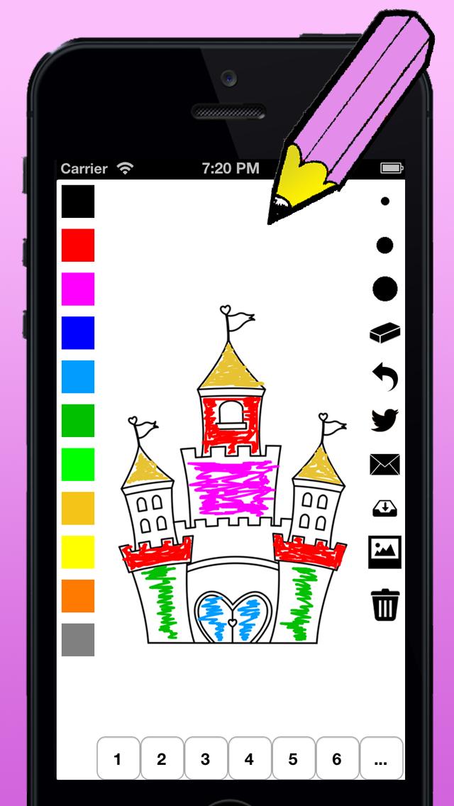 塗り絵の本 女の子のための王女の:シンデレラ、王国、城や馬のような多くの写真とともにのおすすめ画像2
