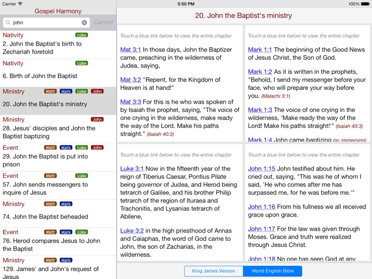 Gospel Harmony for iPad