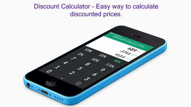 Discount Calculator - Easy way to calculate discounted prices