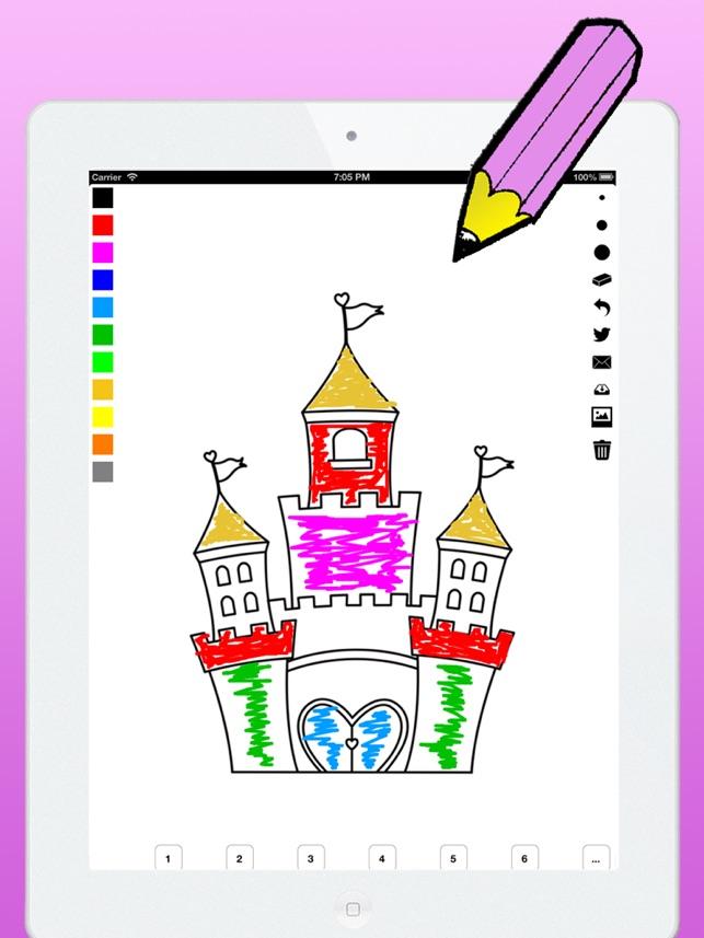 Libro para colorear la princesa para niñas: aprender a pintar la ...