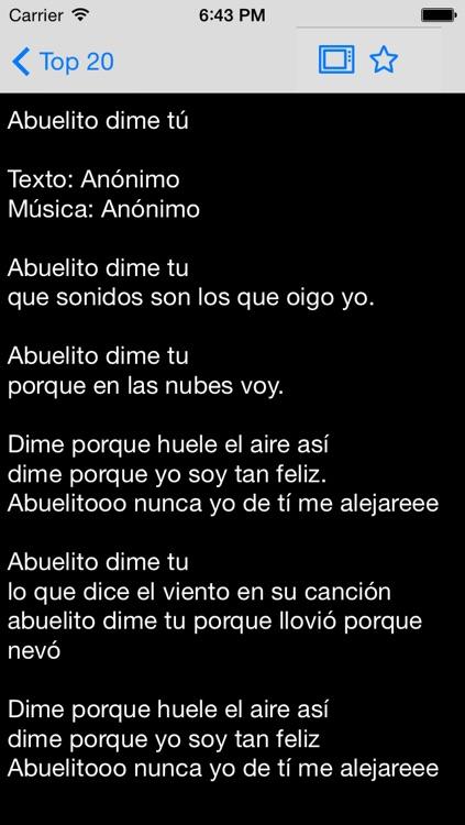 Cancionero - canciones infantiles