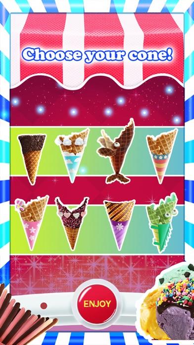 アイスクリーム - 無料ゲーム - フレーバーとトッピングのホストを使用して独自の甘いアイスクリームコーンを作るのスクリーンショット3