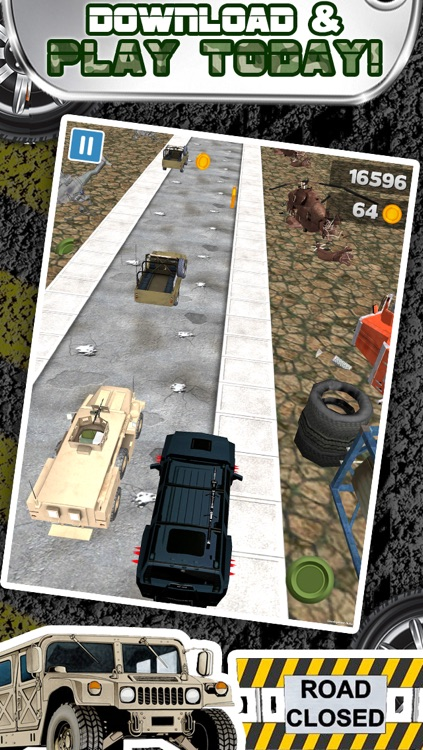 3D Humvee Army Race Game By Top Racing War Games For Cool Boys And Teens FREE screenshot-4