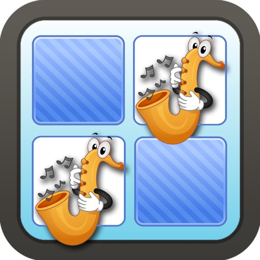 Memo Game Music Instruments Cartoon icon