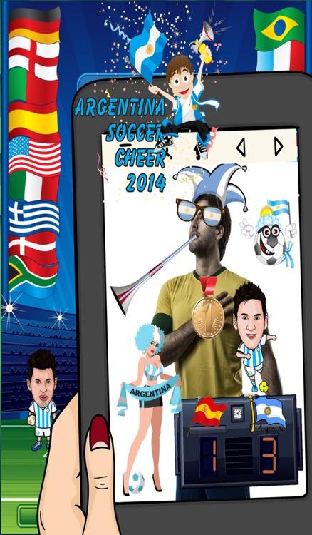 Argentina World Soccer Cheer 2014 - Latinoamérica Foto Fútbol Argentino Sticker Booth Frames in Braziil