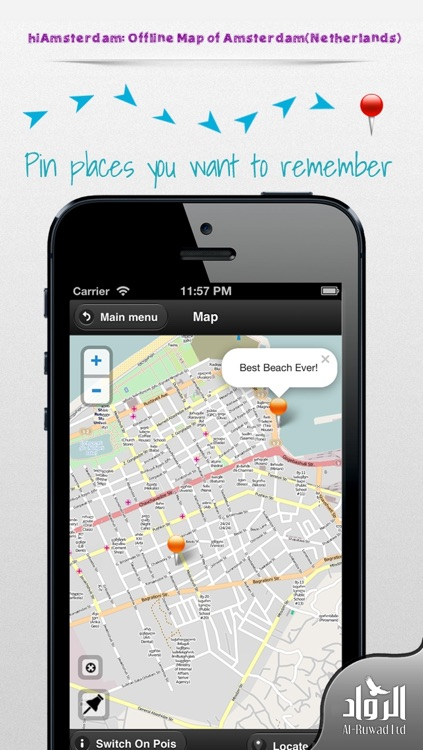 hiAmsterdam: Offline Map of Amsterdam (Netherlands) screenshot-1