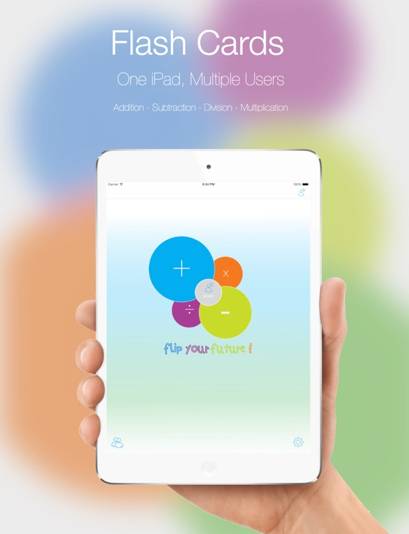 Flip The Future - Math Flash Cards App, Practice Math, Addition, Subtraction, Multiplication, Division screenshot-0