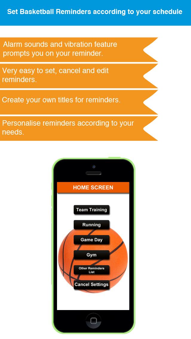 Basketball Reminder App - Stundenplan Ablaufplan Reminders-SportScreenshot von 4