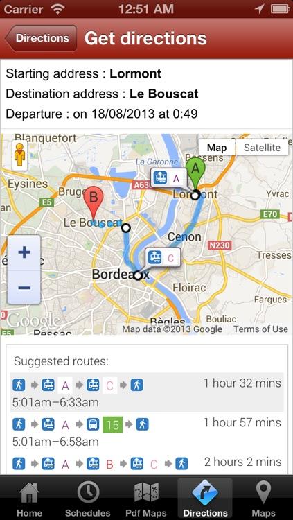 iBordeaux Tram Bus Free screenshot-3