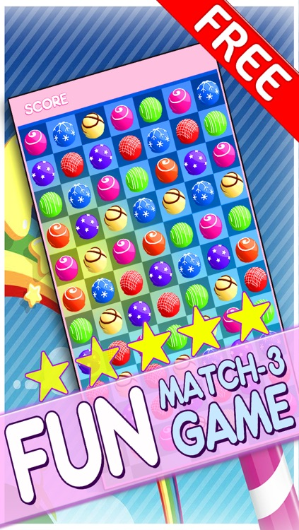 Candy Jewels Mania Puzzle Game - Fun Sugar Rush Match3 For Kids HD FREE screenshot-0