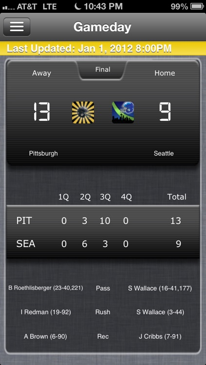 Pittsburgh Football Live screenshot-0
