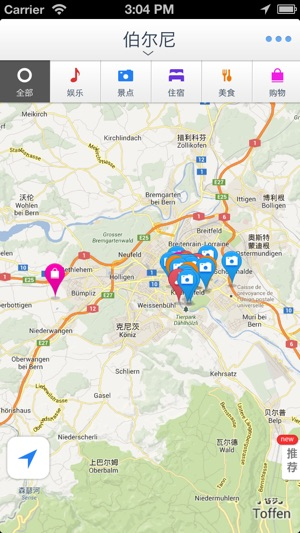 Bern Offline Mapoffline map GPS tourist attractions information